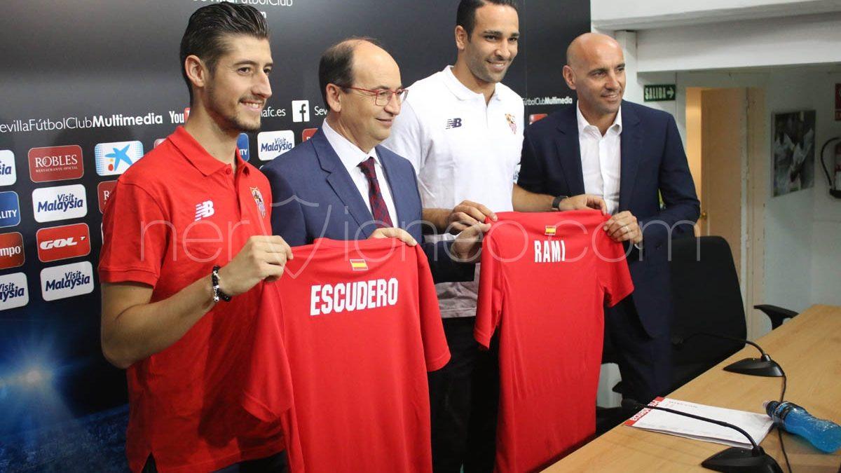 Rueda de prensa | Adil Rami y Sergio Escudero