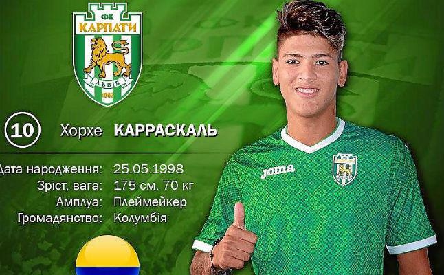 Jorge Carrascal se va cedido al Karpaty